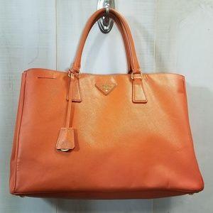 Prada Lux Saffiano Leather Large Tote Papaya $2695